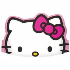 Rainbow Hello Kitty Paper Tiaras Pack of 8