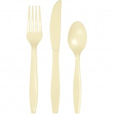 Ivory Cutlery Sets For 8 Guests Pack of 24