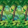 Jungle Buddies Party Decorations - Scene Setter Jungle Trees Backdrop