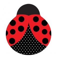 Ladybug Fancy Dinner Plates 25cm Pack of 8