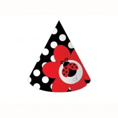 Ladybug Fancy Party Hats Pack of 8