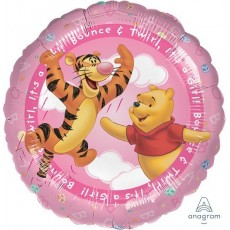 Baby Shower - General Foil Balloons 45cm Pink Winnie The Pooh It's a Girl Bounce & Twirl