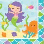 Mermaid Friends Lunch Napkins 33cm x 33cm Pack of 16