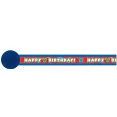 Mickey Mouse & Friends Happy Birthday! Crepe Streamer 9.14m x 4.8cm