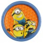 Round Minions Paper Dinner Plates 23cm Pack of 8