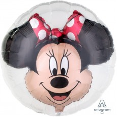 Round Minnie Mouse Insiders Bubble Balloons 60cm Pack of 5