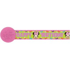 Minnie Mouse Crepe Streamer 9.14m