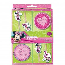 Minnie Mouse Picks & Cupcake Cases Pack of 48