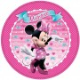 Round Minnie Mouse Dinner Plates 23cm Pack of 8