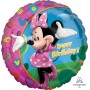 Round Minnie Mouse Standard XL Foil Balloon 45cm