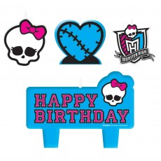 Monster High Mini Moulded Candles Pack of 4