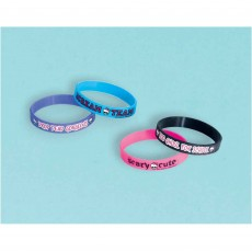 Monster High Favours Assorted Colours Rubber Bracelets Pack of 4