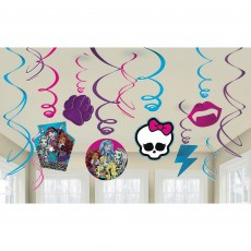 Monster High Hanging Decorations Swirls Pack of 12