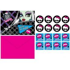 Monster High Invitations Pack of 8