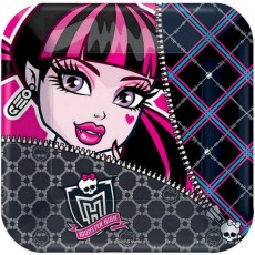 Monster High Lunch Plates 18cm Pack of 8