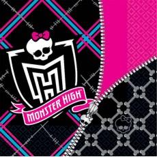 Monster High Lunch Napkins 33cm x 33cm Pack of 16