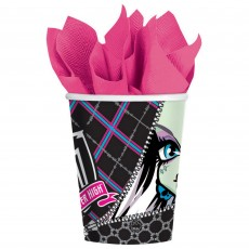 Monster High Paper Cups 266ml Pack of 8