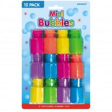 Multi Coloured Mini Bubbles 17.7ml Pack of 12