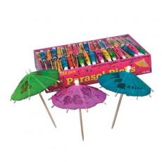 Multi Colour Cake Picks 10cm Parasol Pack of 144