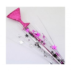 Multi Colour Spangles 61cm Black, Silver, Cerise Martini Glass & Stars Glittered Foam Spray