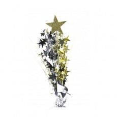 Multi Colour Spangles 61cm Silver, Black & Gold Glittered Foam Spray & Stars