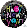 New Year Foil Balloons 45cm Playful