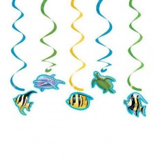 Ocean Party Hanging Decorations Pack of 5