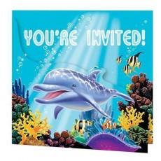 Ocean Party Invitations Pack of 8