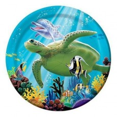 Ocean Party Lunch Plates 18cm Pack of 8