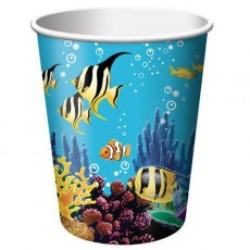 Ocean Party Paper Cups 9oz Pack of 8