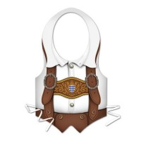 Oktoberfest Costume Accessories Mens Vest Mens Full Size Each