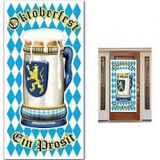 Oktoberfest Plastic Cover Door Decoration 76cm x 152cm