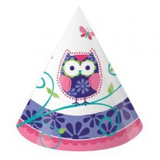 Owl Pal Party Hats Child Sized Pack of 8