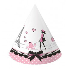 Party in Paris Party Hats Pack of 8
