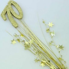 70th Birthday Spangles 61cm Gold