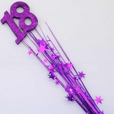 18th Birthday Spangles 61cm Purple