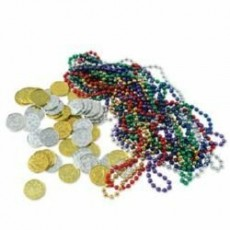 Pirate's Treasure Misc Accessories Treasure - Party Beads & Plastic Coins 62 Items