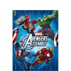 Rectangle Avengers Assemble Plastic Table Cover 1.37m x 2.43m