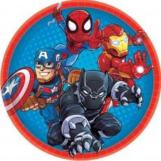 Round Avengers Marvel Super Hero Adventure Lunch Plates 17.7cm Pack of 8