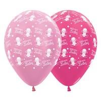 Baby Shower - General Latex Balloons 30cm Pink & Metallic Fuchsia Pack of 6 Baby Lambs Welcome Teardrop