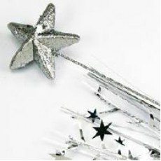 Silver Spangles 53cm Star Foam Spray