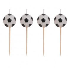 Soccer Candles 8cm Pack of 4