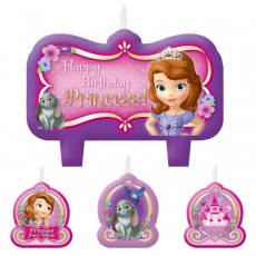 Sofia The First Candles Pack of 4
