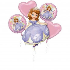 Sofia The First Foil Balloons Bouquet Pack of 5