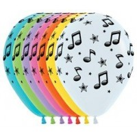 Disco & 70's Latex Balloons 30cm Pack of 12