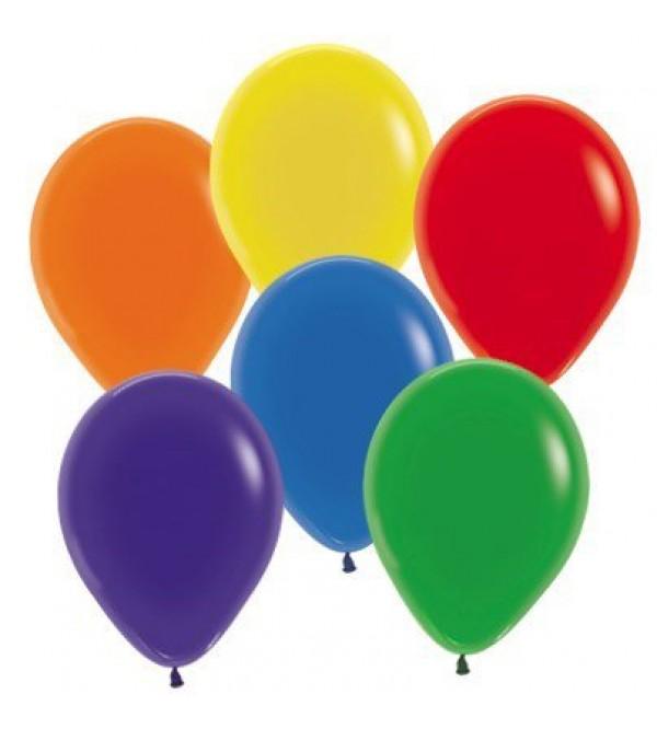 Teardrop Crystal Multi Coloured Latex Balloons 30cm Pack of 25