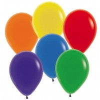 Multi Colour Latex Balloons 12cm Crystal Multi Coloured Jewel Pack of 50