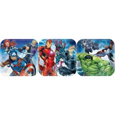 Square Avengers Epic Lunch Plates 17cm Pack of 8