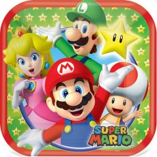 Super Mario Paper Lunch Plates