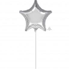 Star Silver Shaped Balloon 10cm